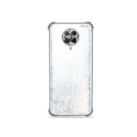 Capa (Transparente) para Xiaomi Poco F2 Pro - Rendada