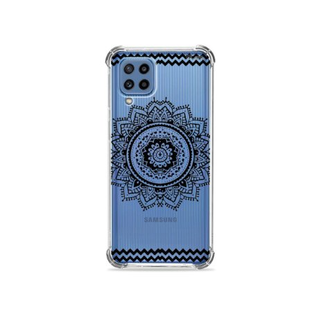 Capa (Transparente) para Galaxy M62 - Mandala Preta