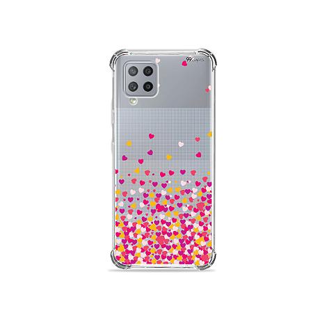Capa para Galaxy A42 5G - Corações Rosa