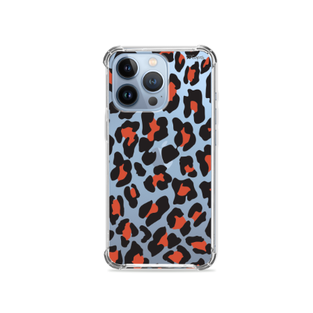 Capa para iPhone 13 Pro Max - Animal Print Red