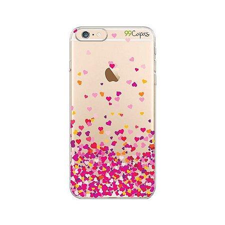 Capa para iPhone 5/5S/SE - Corações Rosa