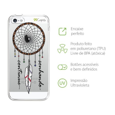 Capa para iPhone 5/5S/SE - Continue Sonhando