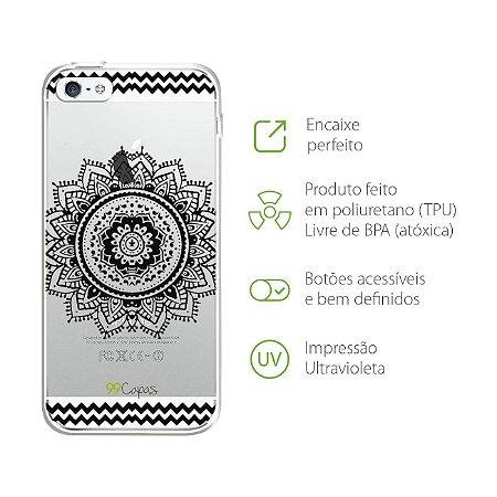 Capa para iPhone 5/5S/SE - Mandala Preta
