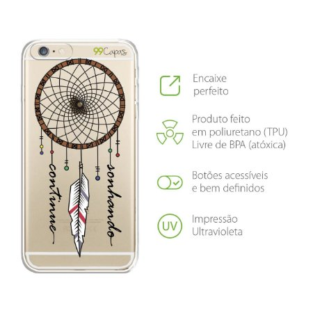 Capa para iPhone 6/6S - Continue Sonhando