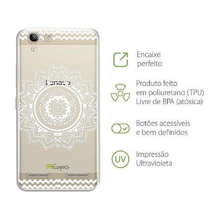 Capa Mandala Branca para Lenovo Vibe k5