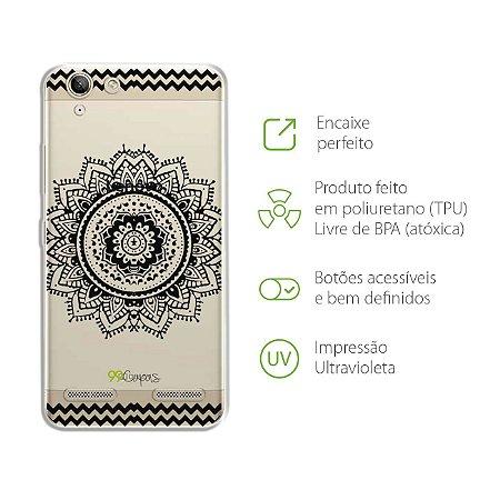 Capa Mandala Preta para Lenovo Vibe k5