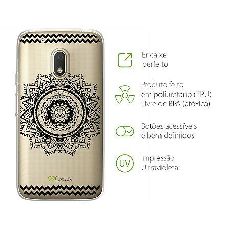 Capa para Moto G4 Play - Mandala Preta