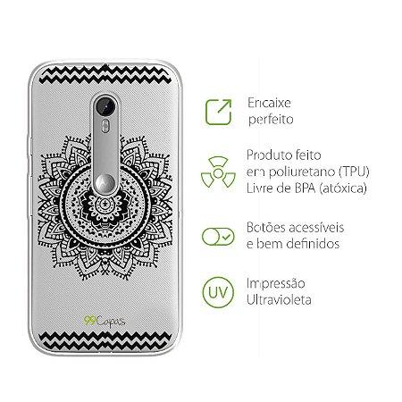 Capa para Moto G3 - Mandala Preta
