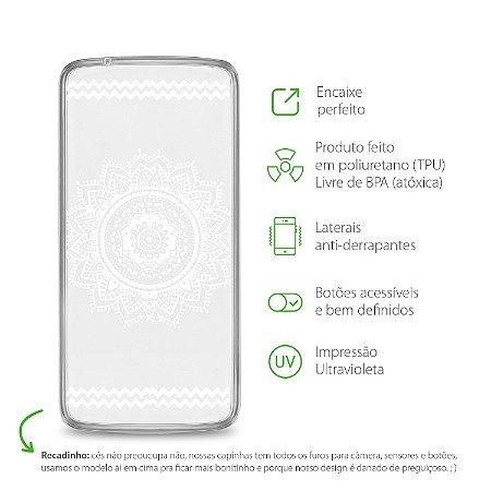 Capa para Moto X Play - Mandala Branca