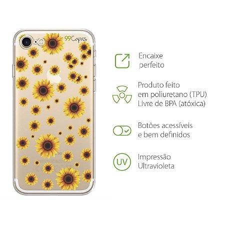 Capa Girassóis para Iphone 7