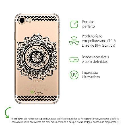 Capa Mandala Preta para Iphone 7