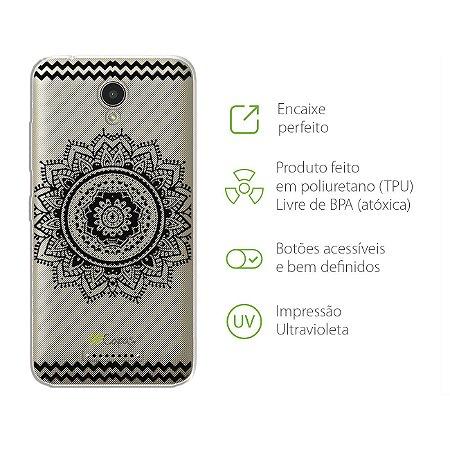 Capa Mandala Preta para Lenovo Vibe B