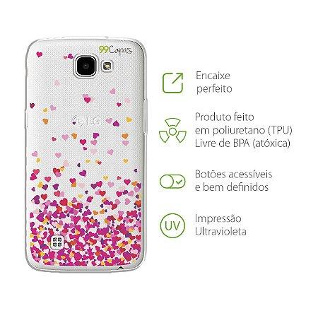 Capa para LG K4 - Corações Rosa