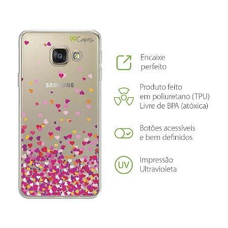 Capa para Samsung Galaxy A9 / A9 Pro - Corações Rosa