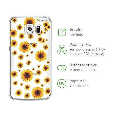 Capa para Galaxy S6 - Girassóis