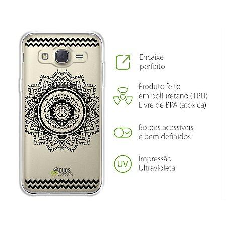 Capa para Galaxy J3 - Mandala Preta