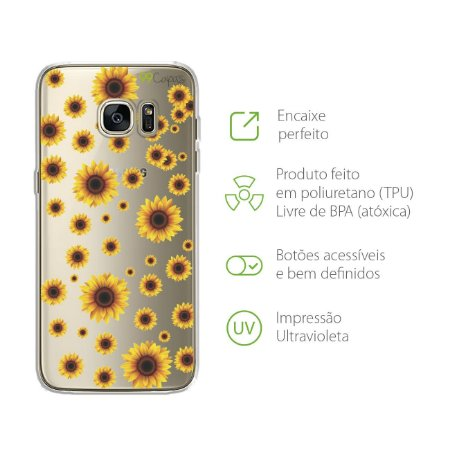 Capa para Galaxy S7 Edge - Girassóis