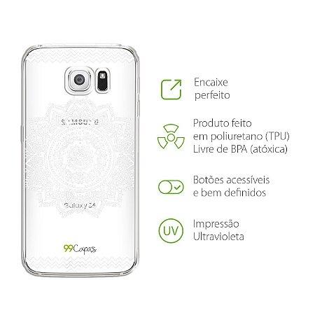Capa para Galaxy S6 Edge - Mandala Branca