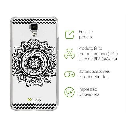 Capa para LG X Screen - Mandala Preta