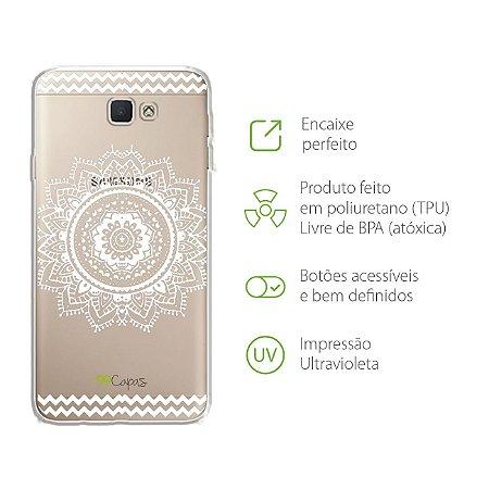 Capa para Galaxy J5 Prime - Mandala Branca