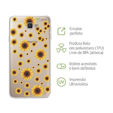 Capa para Samsung Galaxy J5 Prime - Girassóis