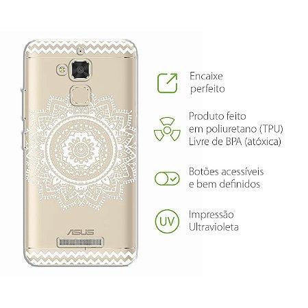Capa Mandala Branca para Zenfone 3 Max - ZC520TL