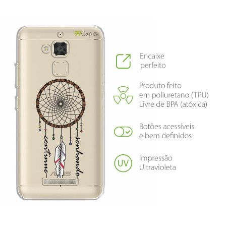 Capa para Zenfone 3 Max - 5.2 Polegadas - Continue Sonhando