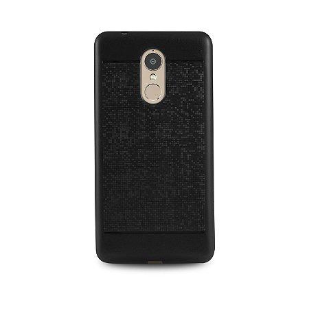 capa mosaíco preta para Lenovo Vibe K6 PLus