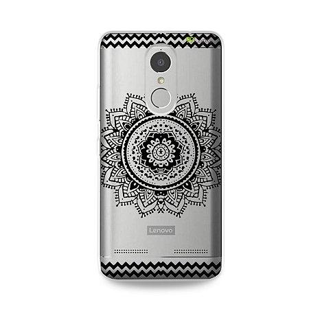 Capa para Lenovo K6 - Mandala Preta