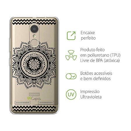Capa Mandala Preta para Lenovo K6 Plus