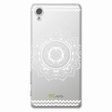 Capa Mandala Branca para Sony XA