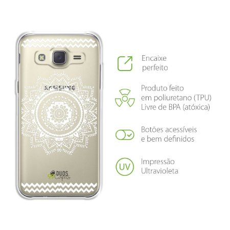 Capa para Galaxy J2 Prime - Mandala Branca
