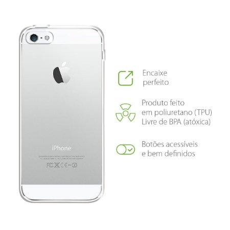 Capa Transparente para iPhone 5/5s/SE