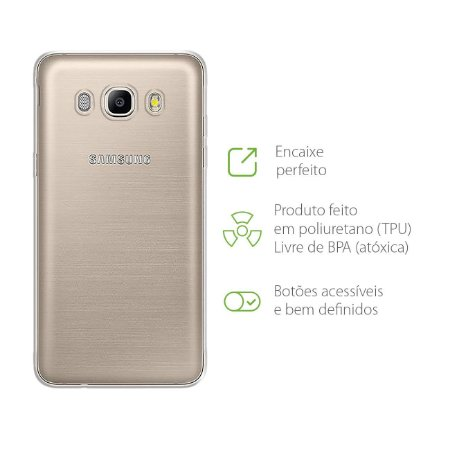 Capa Transparente para Samsung Galaxy J5 Metal