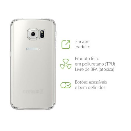 Capa Transparente para Samsung Galaxy S6 Edge
