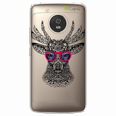 Capa para Moto G5 - Alce Hipster