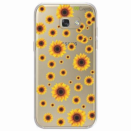 Capa para Galaxy A5 2017 - Girassóis