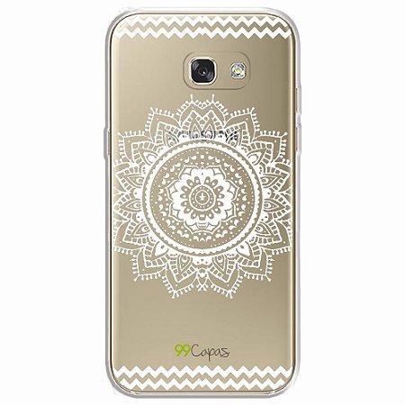 Capa para Galaxy A5 2017 - Mandala Branca