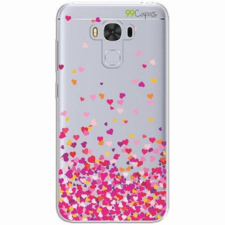Capa para Asus Zenfone 3 Max - 5.5 Polegadas - Corações Rosa