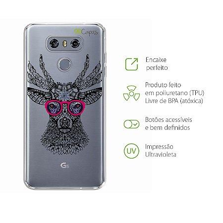 Capa para LG G6 - Alce Hipster