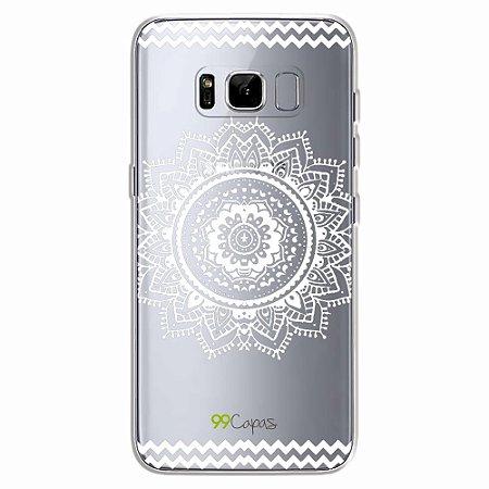 Capa para Galaxy S8 - Mandala Branca
