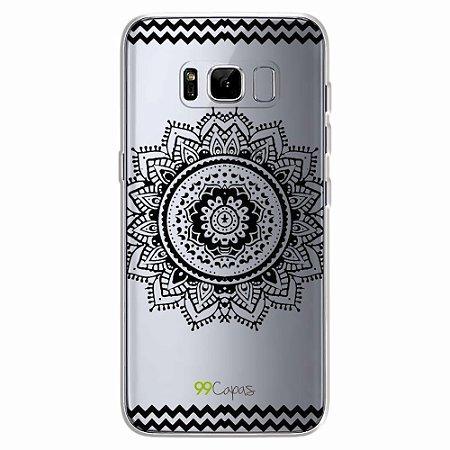 Capa para Galaxy S8 - Mandala Preta