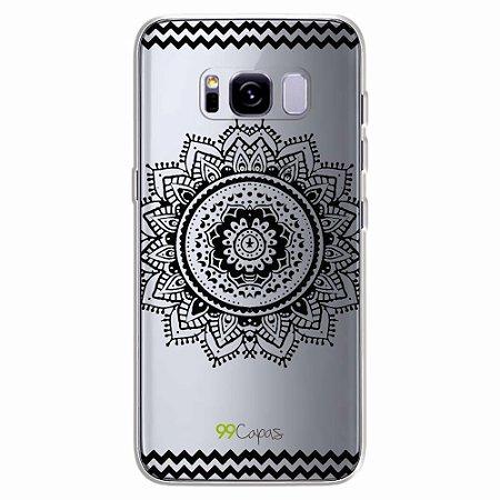 Capa para Galaxy S8 Plus - Mandala Preta