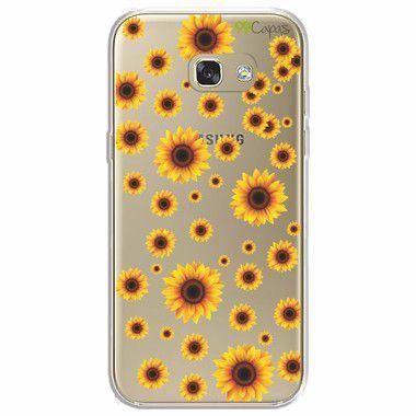 Capa para Galaxy A7 2017 - Girassóis