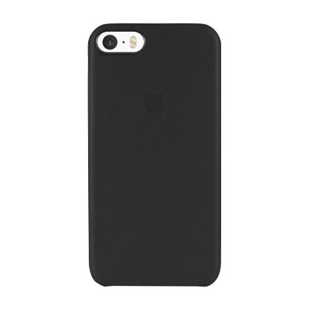 Capa Couro Preta para Apple iPhone SE
