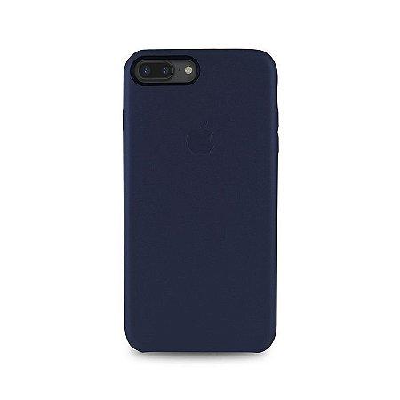 Capa Couro Azul para Apple iPhone 7 Plus