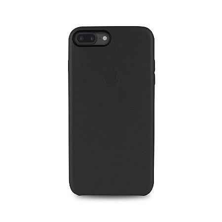 Capa Couro Preta para Apple iPhone 7 Plus
