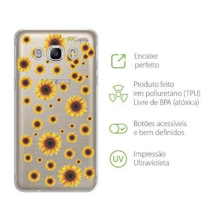Capa para Galaxy J5 - Girassóis