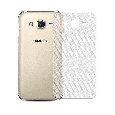 Película de Fibra de Carbono Traseira Transparente para - Samsung Galaxy J5 (2015) - 99capas