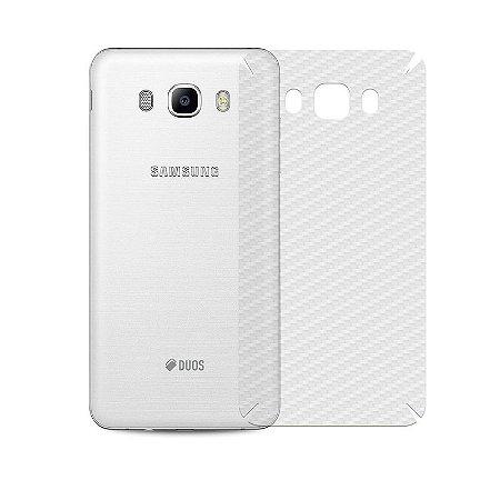 Película de Fibra de Carbono Traseira Transparente para - Samsung Galaxy J5 Metal  - 99capas